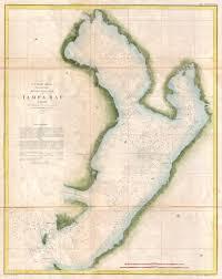 Noaa Chart 11416 Tampa Bay Nautical Chart 1855 Geogarage Tampa Bay