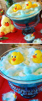 baby blue ducky shower punch