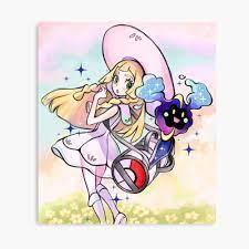 Lillie And Nebby pokemon moon sun / Cosmog