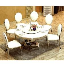 10 seater dining table dining table marble top with turntable large stainless steel send round 10