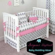 blue and grey elephant nursery bedding baby room ideas custom made by