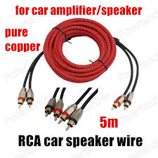 subwoofer speaker wire adapter promotion shop for promotional Subwoofer Speaker Wire Adapter for car amplifier speaker subwoofer 5 meters pure copper audio cables red 4 5m rca to rca video cable speaker wire subwoofer cable to speaker wire adapter