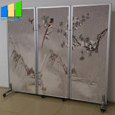 china foldable room divider on wheels