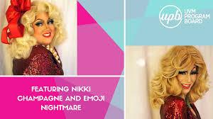 nikki chagne and emoji nightmare are bringing drag realness to uvm s cus