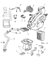 2003 chrysler town country aux air conditioning and heater diagram 00i72502
