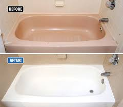 this bathtub was outdated chipped and very difficult to clean miracle method refinished the tub and tile in just 3 days at a fraction of the cost of