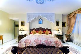 Bedroom:Cozy and Colorful Moroccan Bedroom Decorations Best Moroccan Bedroom  With Huge Floral Pattern Bed