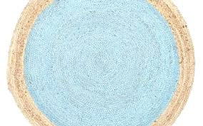 blue circle rug blue round rug lovely culture jute natural x cm floor runners dark blue