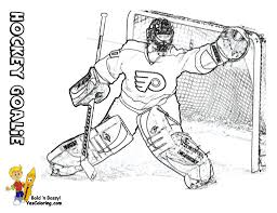 Small Picture Hockey Goalie Coloring Pages Free Printable Hockey Coloring Pages