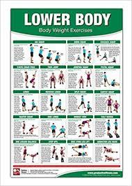 Bodyweight Training Poster Chart Lower Body Body Weight