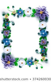 Paper Quilling Flower Frames Paper Flowers Quilling Frame Stock Photo Edit Now 374260030
