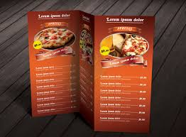Restarunt Brochure Adorable Resume Templates Tri Fold Restaurant Menu Templates The Best