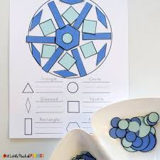 Free Craft Printables Templates Build A Snowflake Winter Shape Math Activity And Free