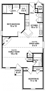 Small Two Bedroom House Plans 654334 Simple 2 Bedroom 2 Bath House Plan House Plans Floor