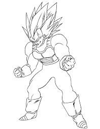 Dragon Ball Z Super Vegeta Coloring Page Hm Coloring Pages