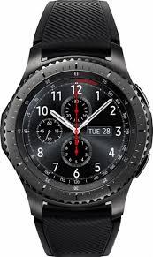 samsung smartwatch. samsung - gear s3 frontier smartwatch 46mm dark grey front_zoom
