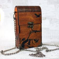 crow design wooden handbag 26 00