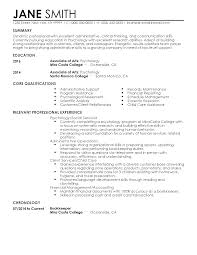 Interesting Psychology Resume Summary for Professional Psychology Student  Templates to Showcase Your Talent