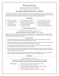 Unusual Emt Resume Format Pictures Inspiration Documentation