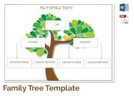 Creating A Family Tree Template Free Chart Details Customizable