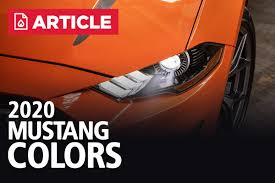 2020 Mustang Colors Options Photos Color Codes
