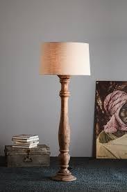 Candela Large Weather Barn Turned Wood Candlestick Floor Lamp