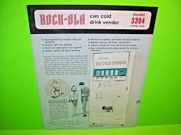 Rockola Vending Machine Adorable RockOla 48 Model 48 Can Cold Drink Original Coin Op Vending