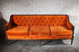 vintage couch for sale. Exellent Sale Vintage Orange Velvet Tufted Sofa Couch By TheFeelingofHome 220000 On For Sale N
