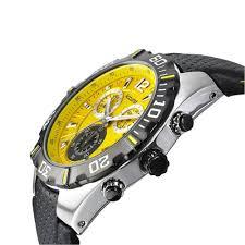 chronograph yellow dial black leather strap gents watch ms832y accurist chronograph yellow dial black leather strap gents watch ms832y