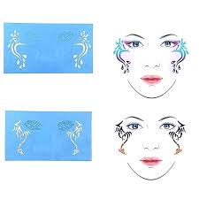 face painting stencils reusable paint templates for airbrush makeup temporary tattoo party printable free
