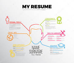 Original Cv Resume Template Stock Vector Orson 96089862