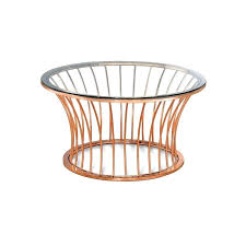 rose gold coffee table furniture of round glass top coffee table in rose gold rose gold