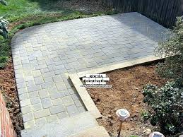 installing patio pavers installing garden patio installing patio installing thin pavers over concrete patio
