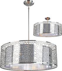 chandeliers chrome drum chandelier z lite modern wide hanging light pertaining to popular home decor