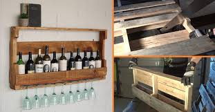 pallet wine rack. DIY Wine Rack From A Wood Pallet