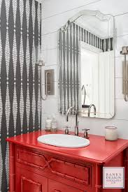 Bamboo Vanity Bathroom Unique Heritage Red By Benjamin Moore This Powder Room Mixes Elements In A