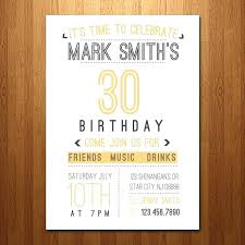 30th birthday invitations ide invitation wording for him template