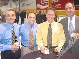 Blacktie | Photos | Jeff Stang, left, Adam Saeks, Bryan Nelson and Ted  Gerhady, committee member. Jeff, Adam and Bryan have been supporters of the  dinner since the beginning.