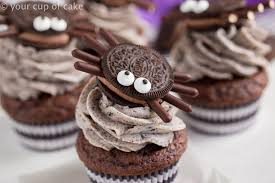 halloween spider cupcakes. Modren Spider Cute Oreo Spiders For Halloween With Cookies And Cream Cupcakes Throughout Spider E