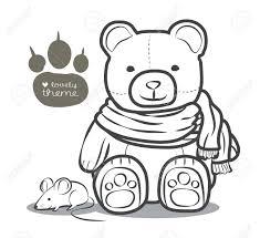 かわいいクマ Scraft とグリーティングのデザインやイラストレーターの漫画のベクトルのラット