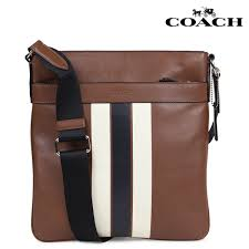 coach coach bag shoulder bag men leather brown f54193