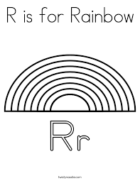 Small Picture R is for Rainbow Coloring Page Twisty Noodle