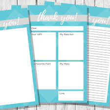Thank You Note Printables | Homeschooling Without Training Wheels