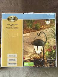 Hampton Bay Pathway Lights Cool Hampton Bay Outdoor Solar Powered Landscape LED Matte Black Hammered