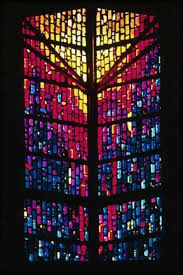 new hope community church in clacs oregon commissioned this window in 1985 it is 21 feet high and 12 feet wide it consists of dalle de verre glass and