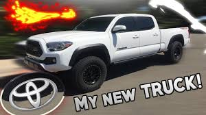 My NEW 2017 Toyota Tacoma w/MODIFICATIONS! - YouTube