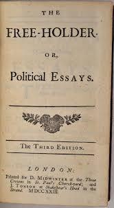 The Free Holder Or Political Essays Third Edition By Joseph Addison On Kurt Gippert Bookseller