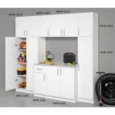 Prepac Elite 32 In Wood Laminate Cabinet In White Web 3236 The