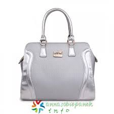 Coach Logo Medium Totes Silver