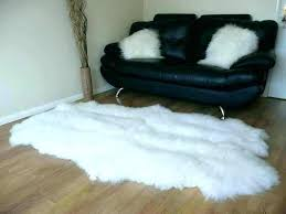 black fur rug ikea fake fur rug faux fur rug simple living room with white sheepskin